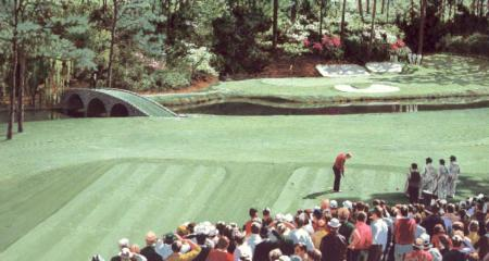 """Golden Bear At Amen Corner"" - 24"" x 44"" ""Amen Corner"" - Misc  Art  Paintings"