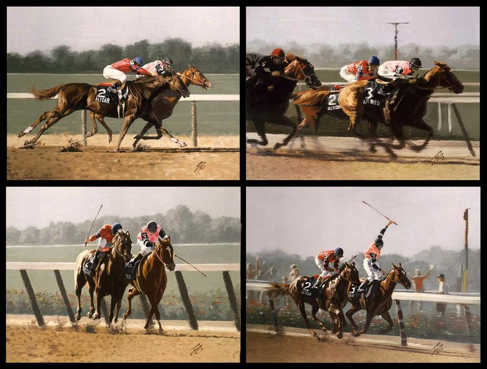 """Belmont Stakes 1978"" ""Belmont Stakes 1978"" - Misc  Art  Paintings"