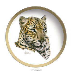 Chinese Leopard Plate Head Plate- Collectable Plate by Guy Coheleach