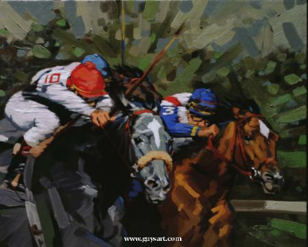 """Hadley Horse Race""   -  16"" x 20"" ""Hadley Horse Race"" - Misc  Art  Paintings"