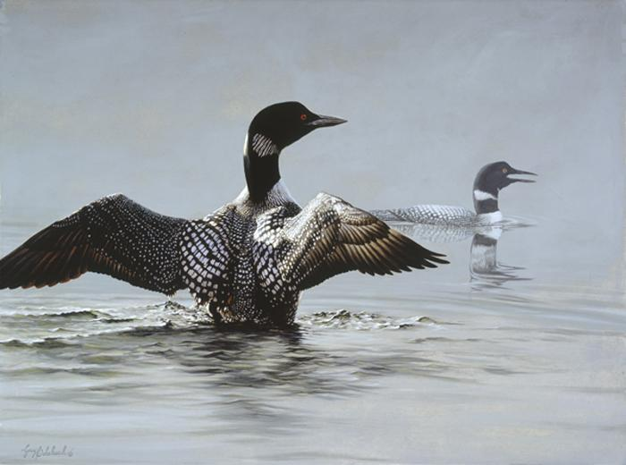 """Jewels of the Lake""   -  30"" x 40"" ""Jewels of the Lake"" - Water Birds  Waterfowl Paintings  Waterbird Paintings"