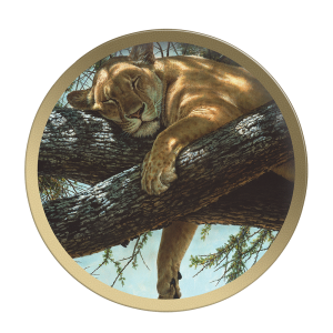 Lake Manyara Lioness - Collectable Plate by Guy Coheleach Lake Manyara Lioness  Coffee Table Books  Collectable Plates