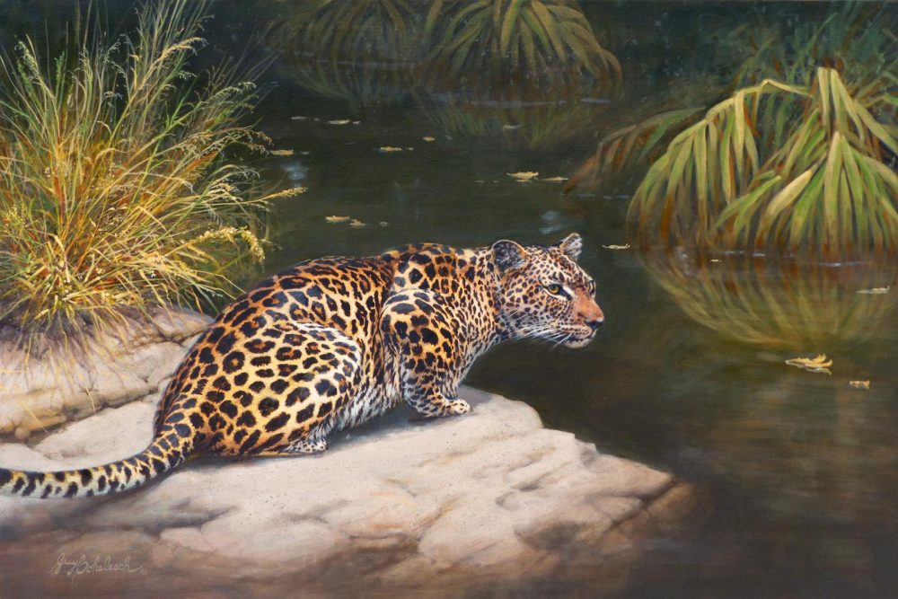 """Leopard Stare""  -  24"" x 36"" ""Leopard Stare"" - Leopards  Leoparp Paintings  Leopard Art"