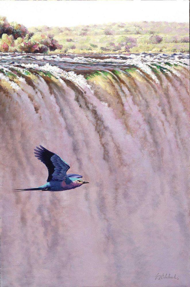 """""""Lilac Breasted Roller""""  -  30 x 16 """"Lilac Breasted Roller"""" - Birds  Song Birds  Game Birds"""