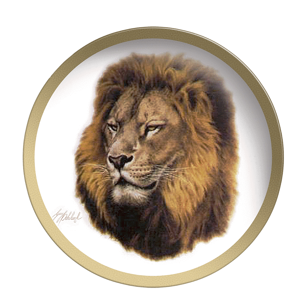 Lion Head - Collectable Plate by Guy Coheleach Lion Head  Coffee Table Books  Collectable Plates