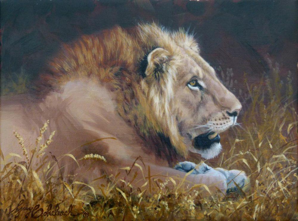 """""""Lion Head Sketch III""""  -  9"""" x 12"""" """"Lion Head Sketch III"""" - Lions  Lion Art  Lion Paintings"""