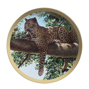 Liquid Leopard - Collectable Plate by Guy Coheleach Liquid Leopard  Coffee Table Books  Collectable Plates