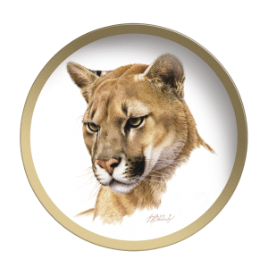 Puma Head - Collectable Plate by Guy Coheleach Puma Head  Coffee Table Books  Collectable Plates