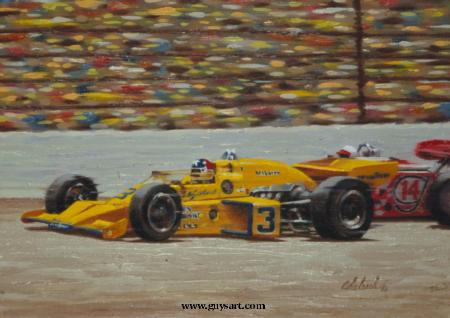 """Race Car Rutherford #3""  -  16"" x 20"" ""Race Car Rutherford #3"" - Misc  Art  Paintings"