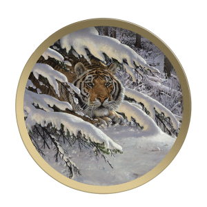 Siberian Ambush - Collectable Plate by Guy Coheleach Siberian Ambush  Coffee Table Books  Collectable Plates