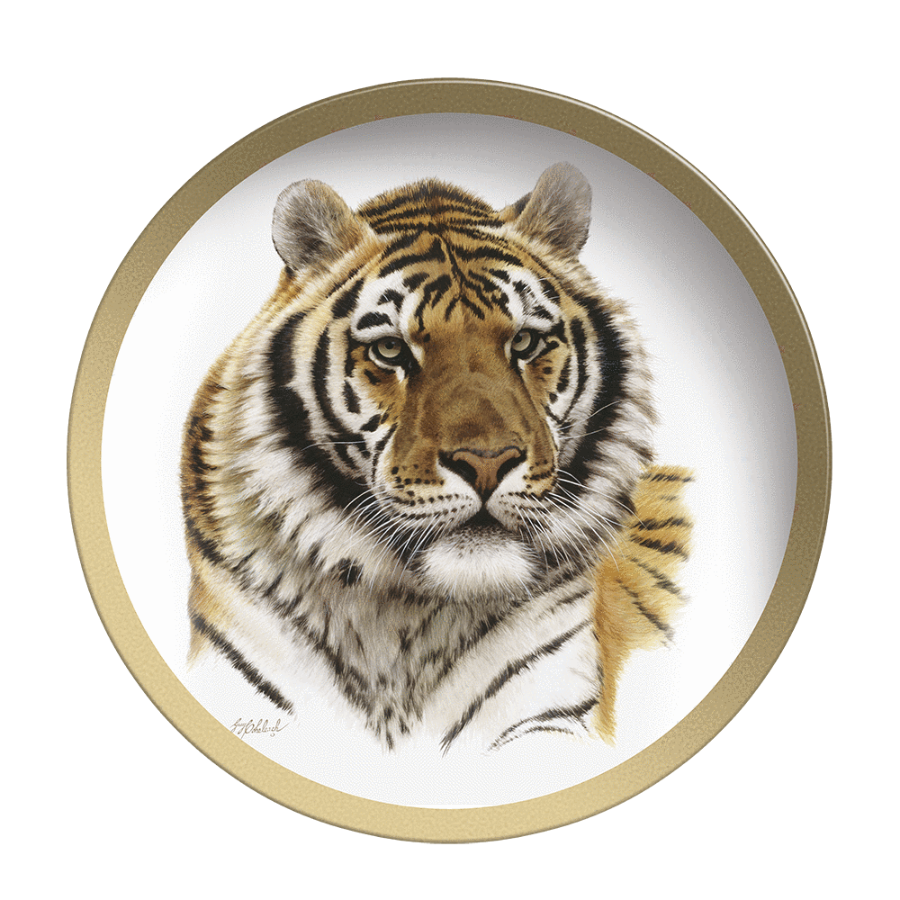Siberian Tiger Head - Collectable Plate by Guy Coheleach Siberian Tiger Head  Coffee Table Books  Collectable Plates