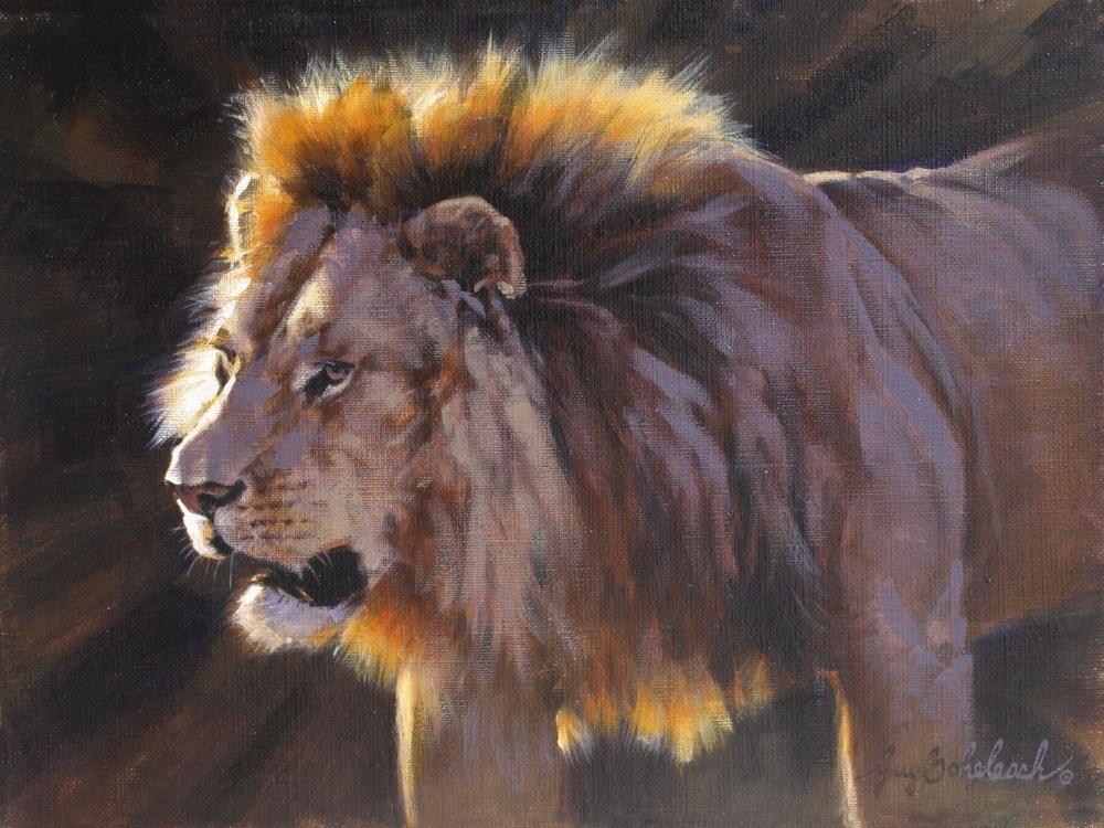 """Simba Sketch""  -  9"" x 12"" ""Simba Sketch"" - Lions  Lion Art  Lion Paintings"