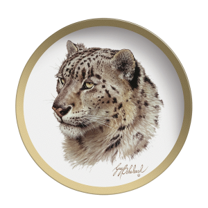Snow Leopard Head - Collectable Plate by Guy Coheleach Snow Leopard   Coffee Table Books  Collectable Plates