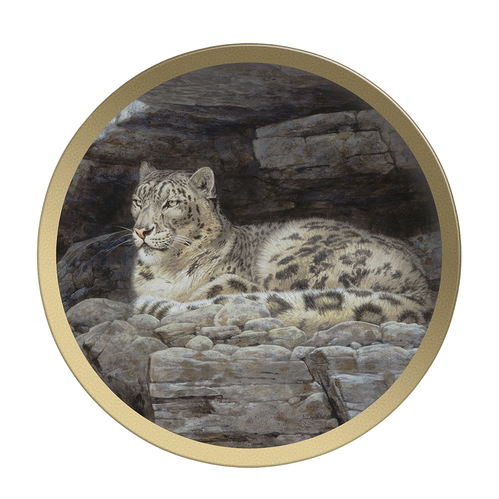 Snow Leopard Refuge - Collectable Plate by Guy Coheleach Snow Leopard Refuge  Coffee Table Books  Collectable Plates