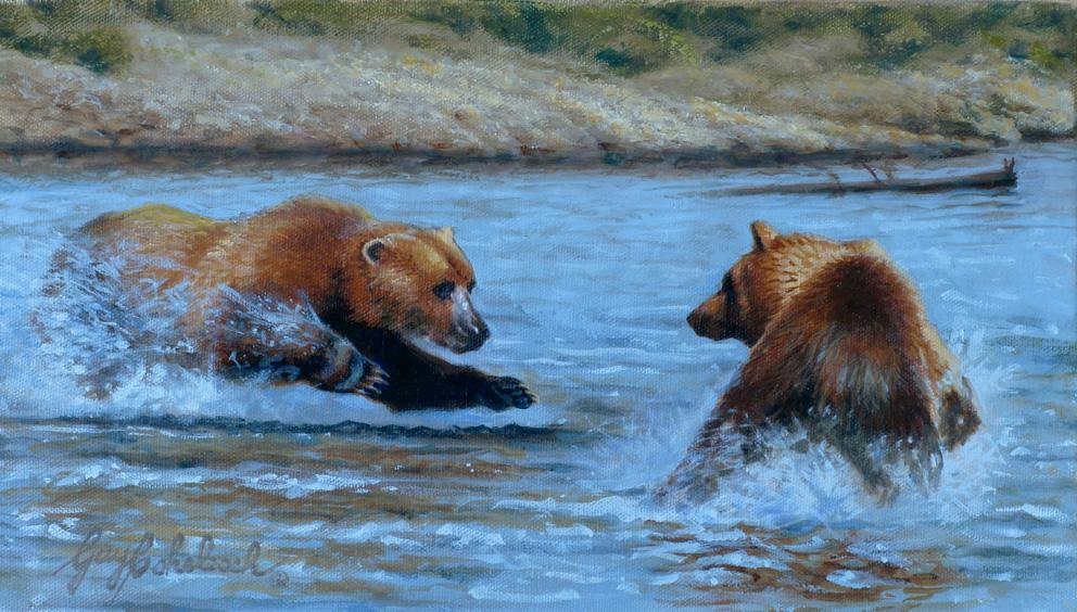 """""""That's My Fishing Hole""""  - Sketch 8"""" x 14"""" """"That's My Fishing Hole""""   recent painting  newest artwork"""