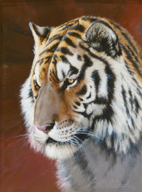 """Tiger Head"" Sketch   -  12"" x 9"" ""Tiger Head"" - Portraits  Big Cat Heads  Cat Head Paintings"