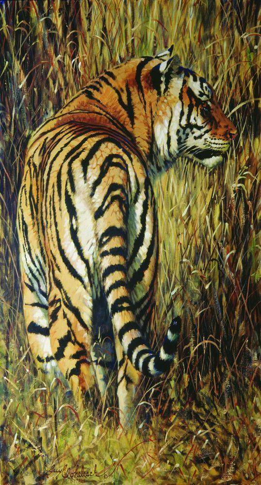 """""""Tigertail""""  (poster)  -  44"""" x 24"""" """"Tigertail"""" - Tigers  Bengal Tiger  Siberian Tiger"""